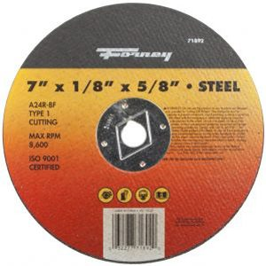 71892 – 7″ x 1/8″ A24R-BF Type 1 Steel Cutting Wheel with 5/8″ Arbor