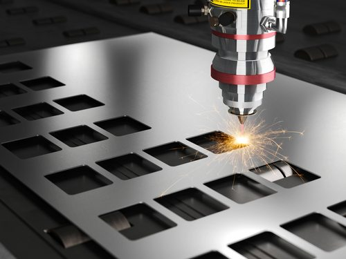 Laser cutting steel frames
