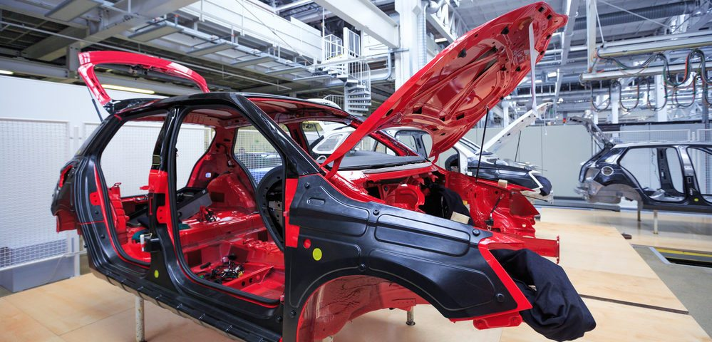 Steel car frame