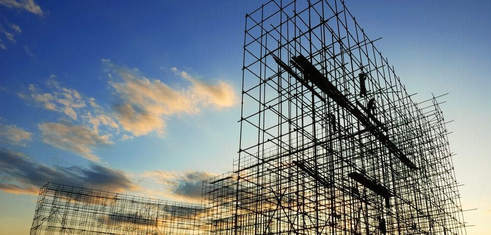 learning steel scaffolding construction
