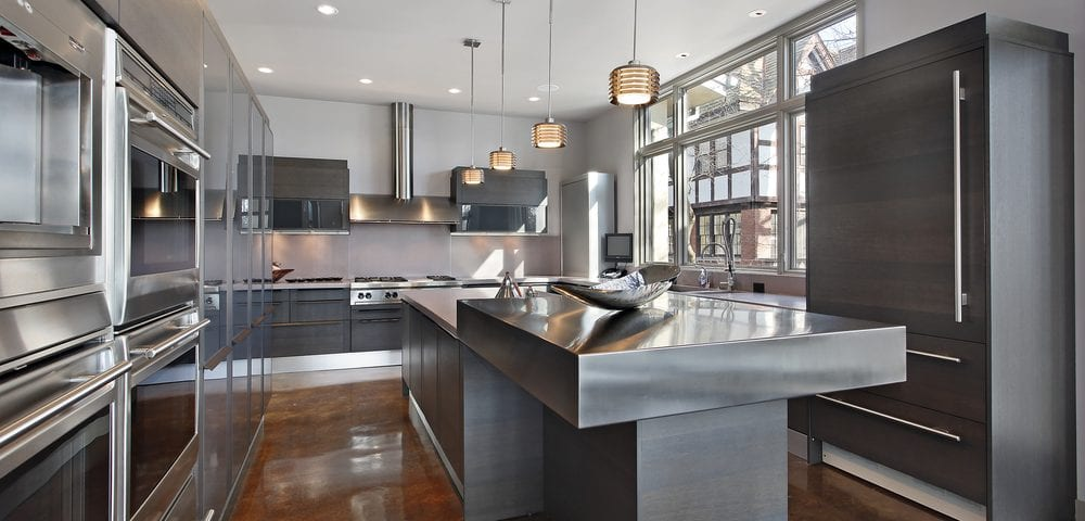 stainless steel kitchen backsplashes