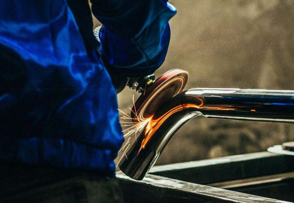steel metal polishing performed